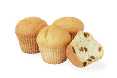 Homemade cupcakes with raisins. Stock Photography