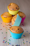 Homemade cupcakes with silicone molds Royalty Free Stock Images