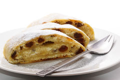 Homemade curd cheese strudel royalty free stock image