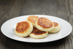 Homemade curd fritters on plate Stock Photography