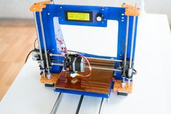 Homemade 3D printer to print plastic. Prototypes royalty free stock photography