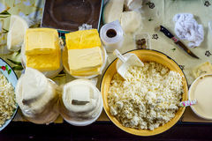 Homemade dairy products Stock Image