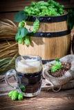 Homemade dark beer Royalty Free Stock Image
