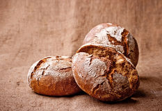 Homemade dark bread royalty free stock images