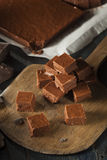 Homemade Dark Chocolate Fudge Royalty Free Stock Photos