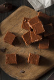 Homemade Dark Chocolate Fudge Stock Photos