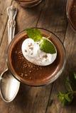 Homemade Dark Chocolate Mousse royalty free stock image
