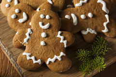 Homemade Decorated Gingerbread Men Cookies Stock Images
