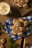 Homemade Decorated Gingerbread Men Cookies Royalty Free Stock Photos
