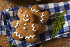 Homemade Decorated Gingerbread Men Cookies Royalty Free Stock Images