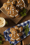 Homemade Decorated Gingerbread Men Cookies Stock Photography