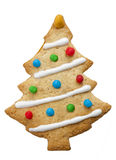 Homemade Decorated Xmas Tree Biscuit Isolated Royalty Free Stock Photo