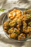 Homemade Deep Fried Chicken Livers stock image