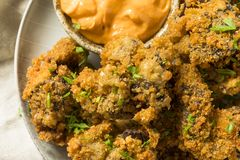 Homemade Deep Fried Chicken Livers stock photography