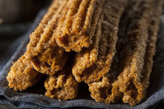 Homemade Deep Fried Churros Royalty Free Stock Images