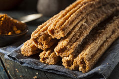 Homemade Deep Fried Churros Royalty Free Stock Image
