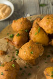 Homemade Deep Fried Hush Puppies Stock Photography