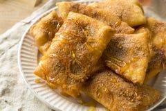 Homemade Deep Fried Mexican Sopapillas. With Cinnamon Sugar Stock Photos