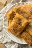 Homemade Deep Fried Mexican Sopapillas. With Cinnamon Sugar Royalty Free Stock Photo