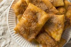 Homemade Deep Fried Mexican Sopapillas. With Cinnamon Sugar Stock Image