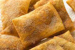 Homemade Deep Fried Mexican Sopapillas. With Cinnamon Sugar Royalty Free Stock Images