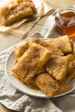 Homemade Deep Fried Mexican Sopapillas Stock Image