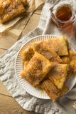 Homemade Deep Fried Mexican Sopapillas. With Cinnamon Sugar Stock Photo
