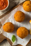 Homemade Deep Fried Risotto Arancini stock image