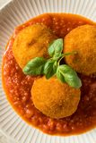 Homemade Deep Fried Risotto Arancini royalty free stock photos