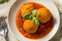 Homemade Deep Fried Risotto Arancini stock photography