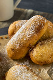 Homemade Deep Fried Yellow Sponge Snack Cakes Royalty Free Stock Photography