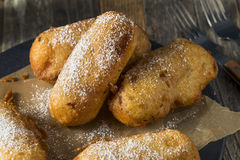 Homemade Deep Fried Yellow Sponge Snack Cakes Royalty Free Stock Image