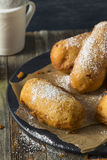 Homemade Deep Fried Yellow Sponge Snack Cakes Royalty Free Stock Images