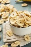Homemade Dehydrated Banana Chips Stock Photography