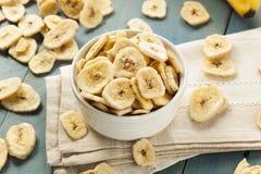 Homemade Dehydrated Banana Chips Royalty Free Stock Photo
