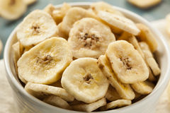 Homemade Dehydrated Banana Chips Royalty Free Stock Images