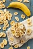 Homemade Dehydrated Banana Chips Stock Image