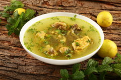 Homemade Delicious chicken broth Royalty Free Stock Image
