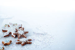 Homemade delicious christmas gingerbread cookies Stock Images
