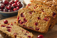 Homemade Delicious Cranberry Bread Stock Photography