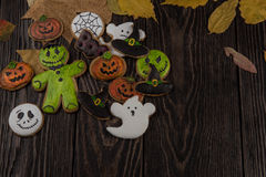 Homemade delicious ginger biscuits for Halloween Stock Image