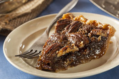 Homemade Delicious Pecan Pie Stock Photo
