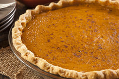Homemade Delicious Pumpkin Pie Royalty Free Stock Photos