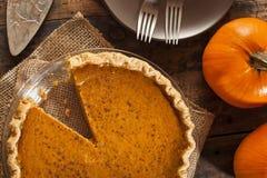 Homemade Delicious Pumpkin Pie Stock Photos