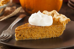 Homemade Delicious Pumpkin Pie Royalty Free Stock Images