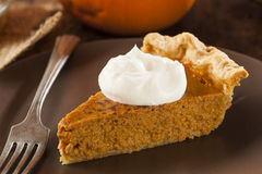 Homemade Delicious Pumpkin Pie Royalty Free Stock Image