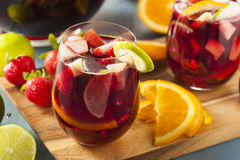 Homemade Delicious Red Sangria Royalty Free Stock Image
