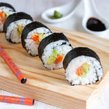Homemade Delicious Sushi. Homemade sushi for sushi lovers Royalty Free Stock Photos