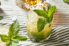 Homemade Derby Mint Julep. With Kentucky Bourbon stock photography