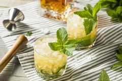 Homemade Derby Mint Julep. With Kentucky Bourbon royalty free stock image